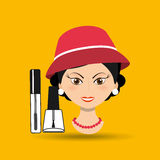 Female makeup design. Illustration eps10 graphic Royalty Free Stock Images