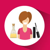 Female makeup design Royalty Free Stock Images