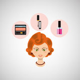 Female makeup design. Illustration eps10 graphic Stock Images