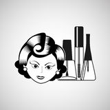 Female makeup design. Illustration eps10 graphic Royalty Free Stock Photography