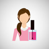 Female makeup design. Illustration eps10 graphic Stock Photos