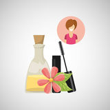 Female makeup design. Illustration eps10 graphic Stock Image