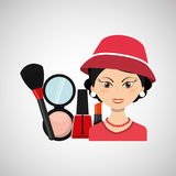 female makeup design Stock Photography