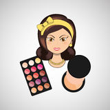 female makeup design Royalty Free Stock Photos