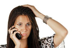 Female making a phone call Stock Photos