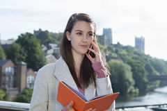 Female Making Plans Stock Photography