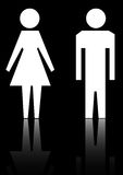Female and male. Signs for female and male in white color eps Stock Photo