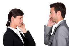 Female and male businesspartners Royalty Free Stock Photos