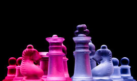 Female male chess. Two colour chess Stock Photography