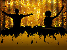 Female and male DJ party background Stock Photos