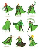 Female and male eco superheros Stock Photo