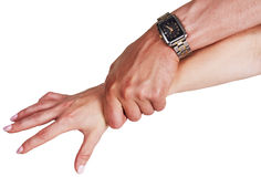 Female and male hands Royalty Free Stock Photography