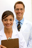 Female and Male Scientists Royalty Free Stock Image