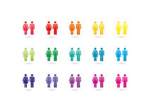 Female and male sign icon Royalty Free Stock Images
