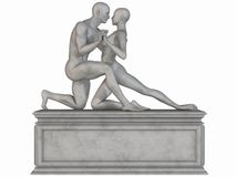 Female and Male Stone Statue Stock Images