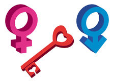 Female and male symbol Stock Image