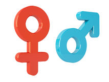 Female and Male Symbols Stock Photos