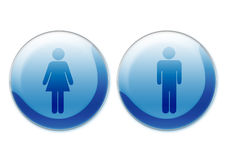Female and male symbols Royalty Free Stock Photo