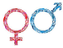 Female and male symbols. Stock Images