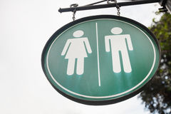 Female and male toilet sign on street, Manila, Philippines Royalty Free Stock Photos