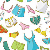 Female And Male Underwear Seamless Pattern Royalty Free Stock Photo