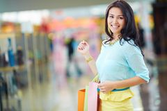 Female in the mall Stock Photos