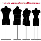 Female and man body mannequin set Stock Photography