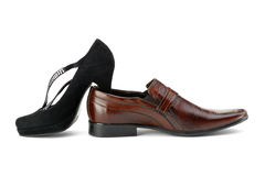 Female and man's shoe Royalty Free Stock Image