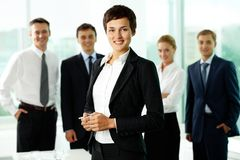Female manager Stock Photo