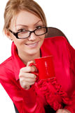 Female manager with coffee cup Royalty Free Stock Photo