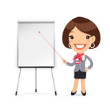 Female Manager Gives a Presentation or Seminar Royalty Free Stock Image