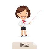 Female Manager With Laser Pointer Royalty Free Stock Photos