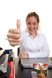 Female manager in office holding Stock Photos