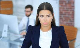 Female Manager in the workplace Royalty Free Stock Image