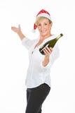 Female managers who celebrates christmas Stock Image