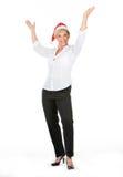 Female managers who celebrates christmas Royalty Free Stock Photo