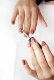 Female manicure Royalty Free Stock Images