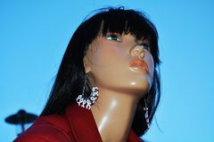 Female mannequin agaist the blue sky Stock Photography