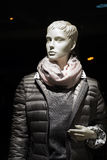 Female mannequin with anorak and scarf Royalty Free Stock Photo