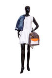 Female mannequin dressed in casual clothes. Isolated on white Royalty Free Stock Photo