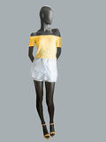 Female mannequin dressed in skirt and top Stock Photos