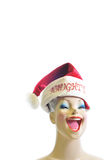 Female mannequin with a Santa Clause hat Stock Photos