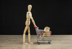 Female mannequin shopping Royalty Free Stock Photos