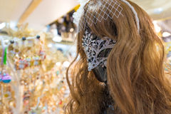 Female mannequin in strass mask Royalty Free Stock Photography