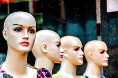Female mannequin in the street. Royalty Free Stock Photo