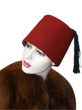 Female Mannequin Wearing a Fez Royalty Free Stock Photos