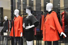 Female mannequins in clothing shop Royalty Free Stock Photo