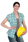 Female manual worker Stock Photography