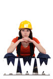 Female manual worker Royalty Free Stock Image