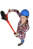 A female manual worker Royalty Free Stock Image